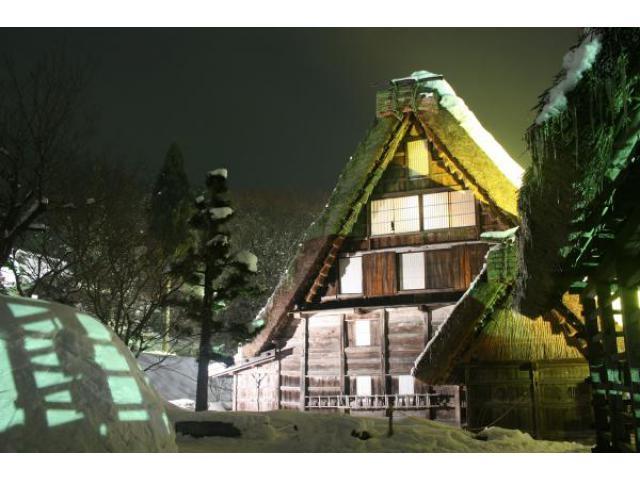 飛騨の里「冬のライトアップ」