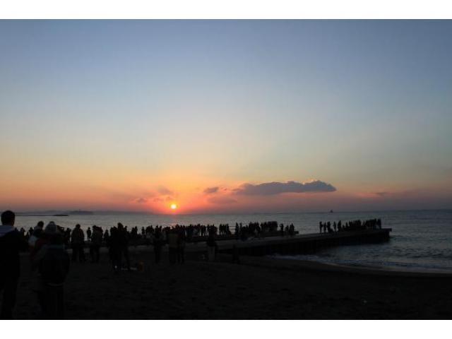 サザンビーチちがさき 初日の出