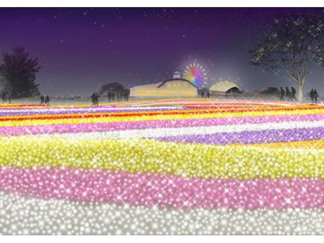 マザー牧場 イルミネーション「光の花園」