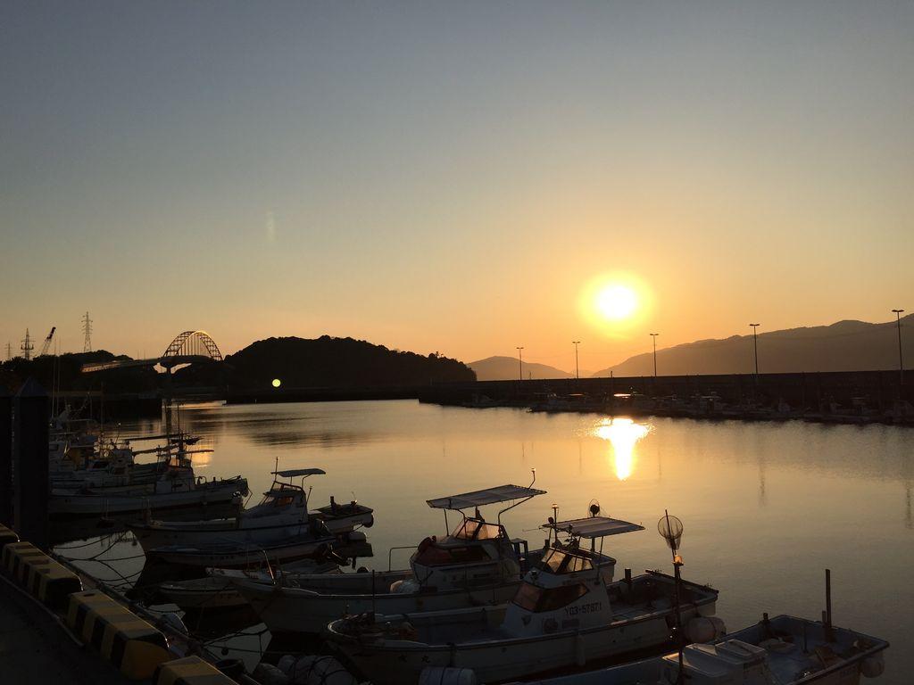 笠戸島の夕日(夕日岬)