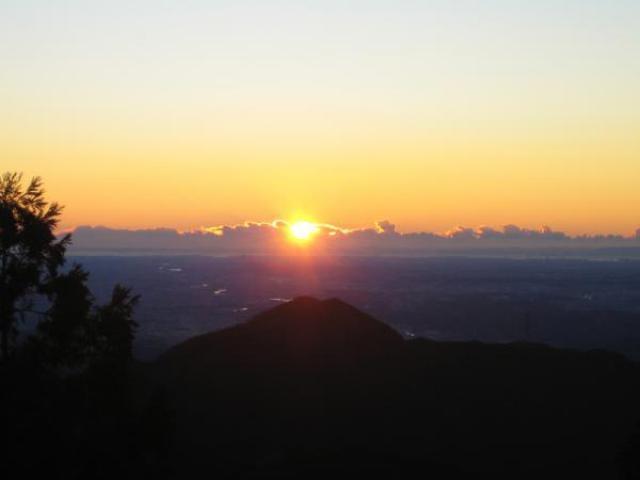 武蔵御嶽神社 初日の出