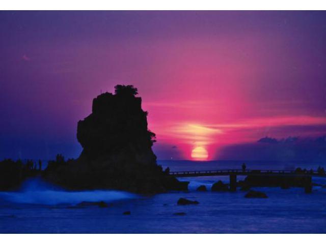 波立海岸 初日の出